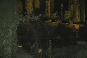 Jardines de la Alhambra por la noche