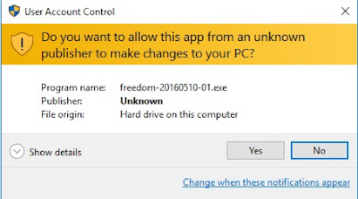 UAC notification from Windows