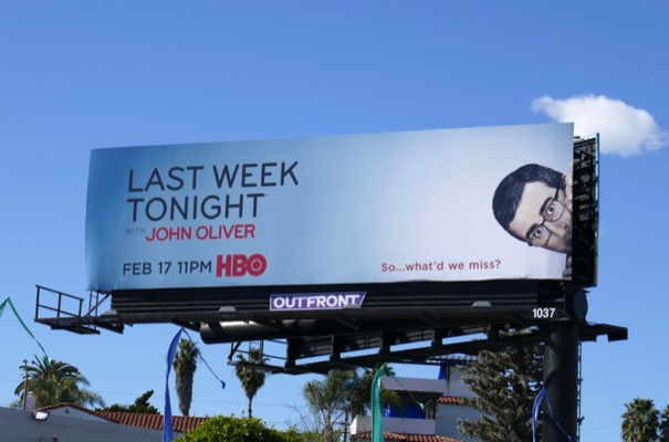 Last Week Tonight John Oliver season 6 billboard