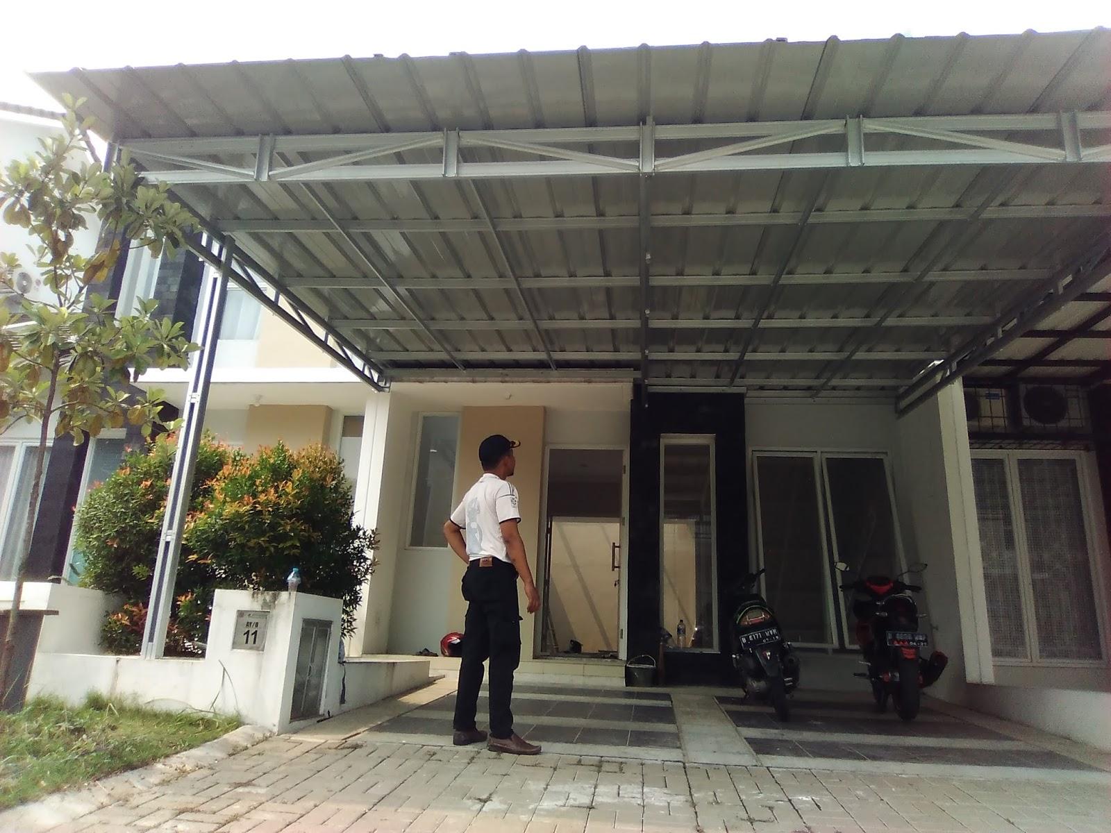 Baja Ringan Truss C75 Dekorinto Utama: Dokumentasi Pekerjaan Canopy Rangka ...