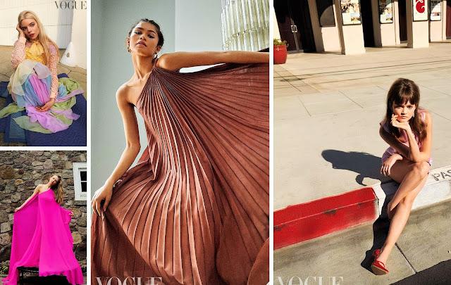 Zendaya, Amanda Seyfried, Anya Taylor-Joy and Ciara Bravo for Vogue Magazine, UK April 2021