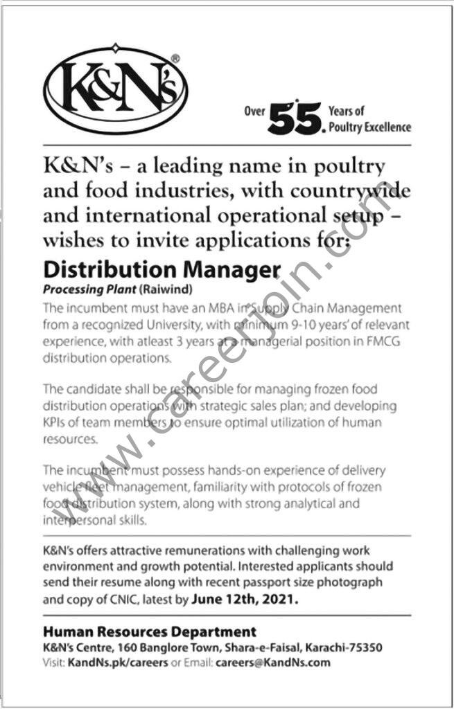 K&N's Pakistan Jobs 2021 in Pakistan