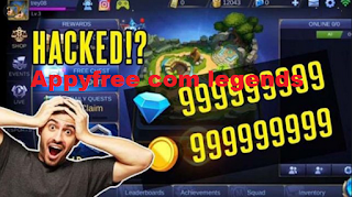 Appyfree com legends free diamonds for mobile legends from appyfree. com
