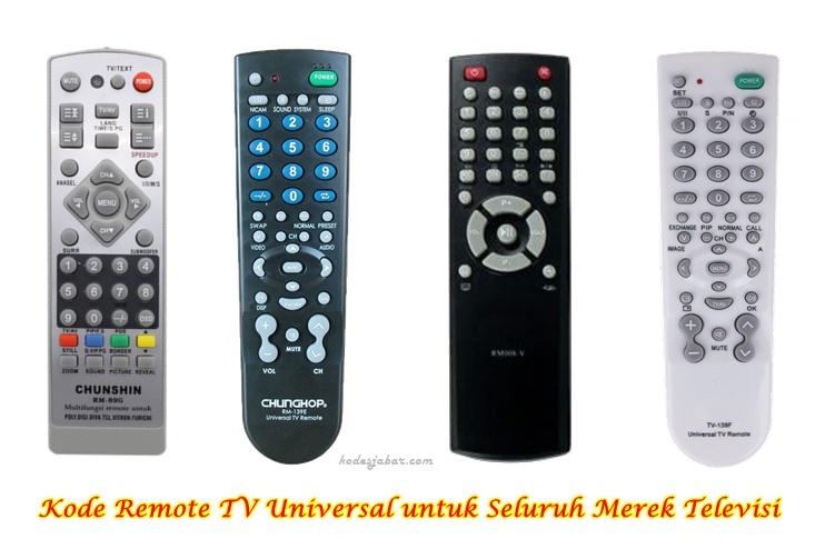 Kode Remote TV Universal untuk Seluruh Merek Televisi