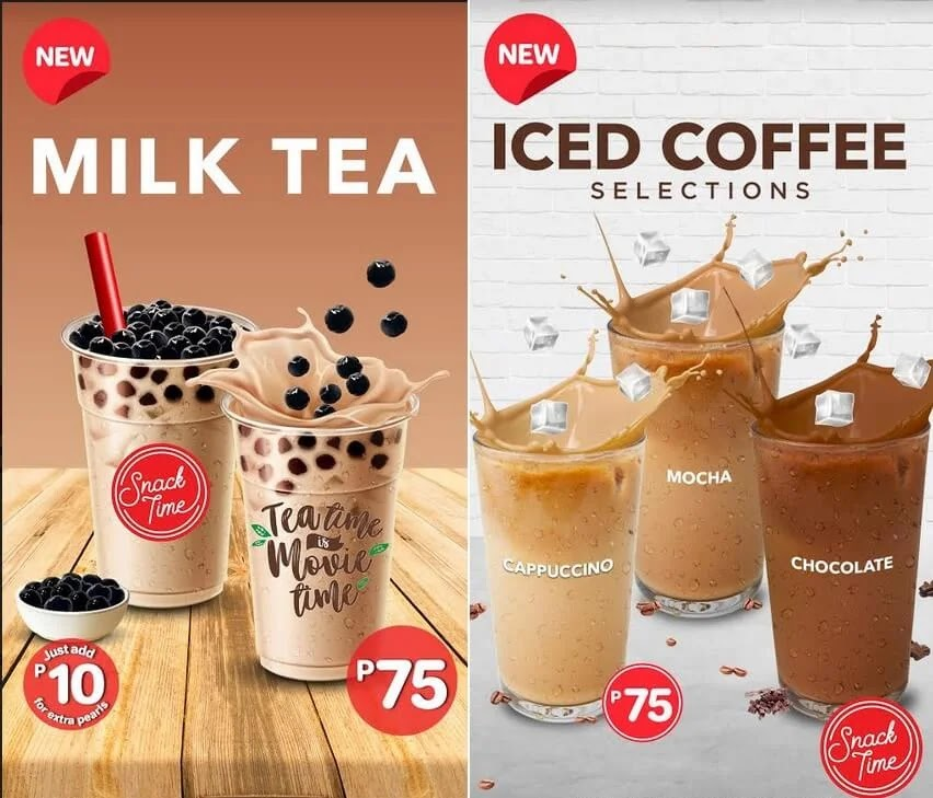SM Cinema Now Offers Milk Tea and Iced Coffee
