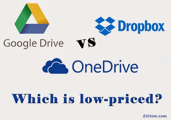 Google drive vs OneDrive vs Dropbox pricing. Which is low-priced?