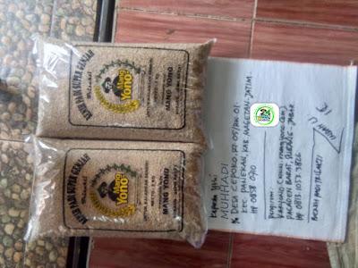 Benih padi yang dibeli MUHHADI Magetan, Jatim. (Sebelum packing karung ).