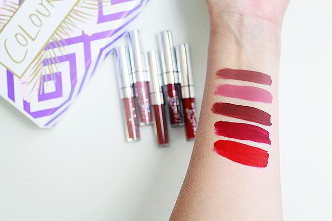 ColourPop Foxy: Mini Ultra Matte Lip Collection swatches