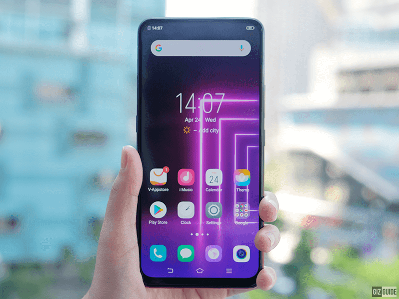 Tall display with no notch