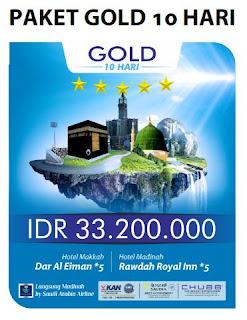 Paket Umroh Gold 10 Hari