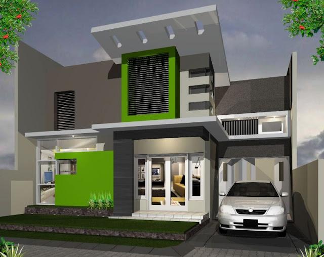 gambar desain rumah kecil 2 lantai