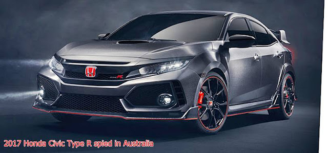 2017 Honda Civic Type R spied in Australia