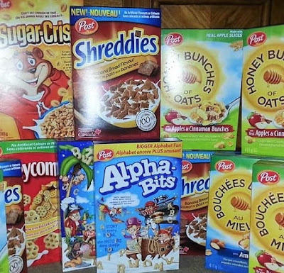 Post Cereal One Day Sale in Barrie- $0.44 Cents a Box