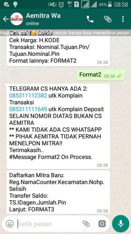 Cara Transaksi Lewat Whatsapp Untuk Agen Pulsa Murah Aemitra Aemitra Pulsa