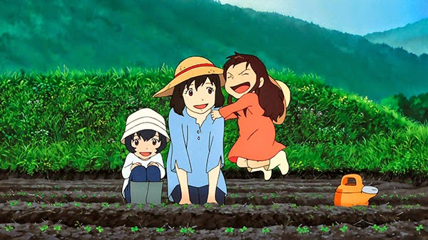OOkami Kodomo no Ame to Yuki - Aria the animation - anime pemandangan desa spesiall Earth Day bagus dan terbaik