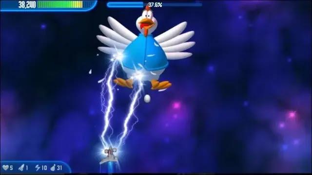 تحميل لعبة 1 chicken invaders
