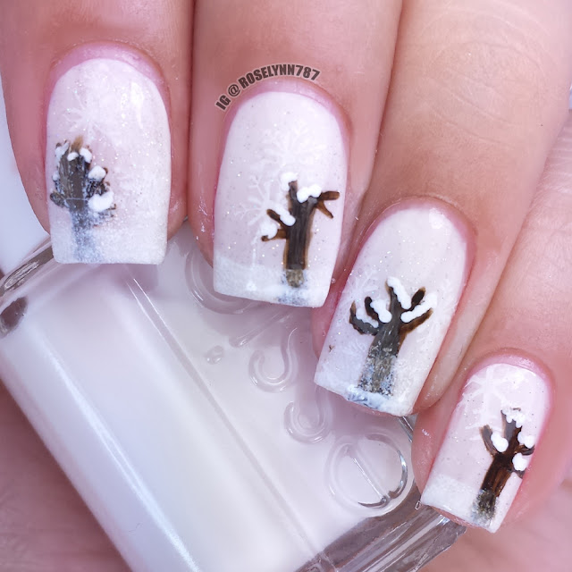 Winter Scene Nails