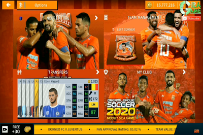 Download Game Android DLS Spesial Borneo FC Shopee Liga 1 2019/2020