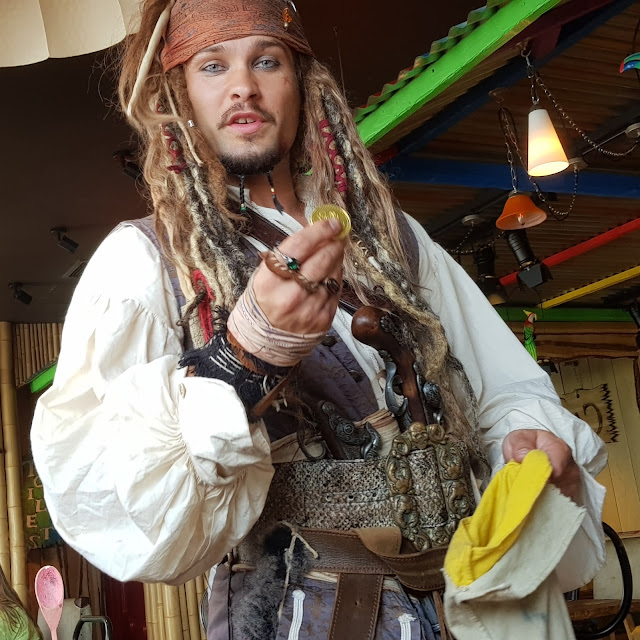 Captain Jack Sparrow lookalike who is incredibly good at Coral Island Blackpool
