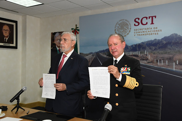 SCT efectúa traspaso de la Coordinación General de Puertos y Marina Mercante a SEMAR