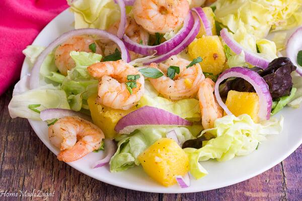 Spicy Shrimp Summer Salad