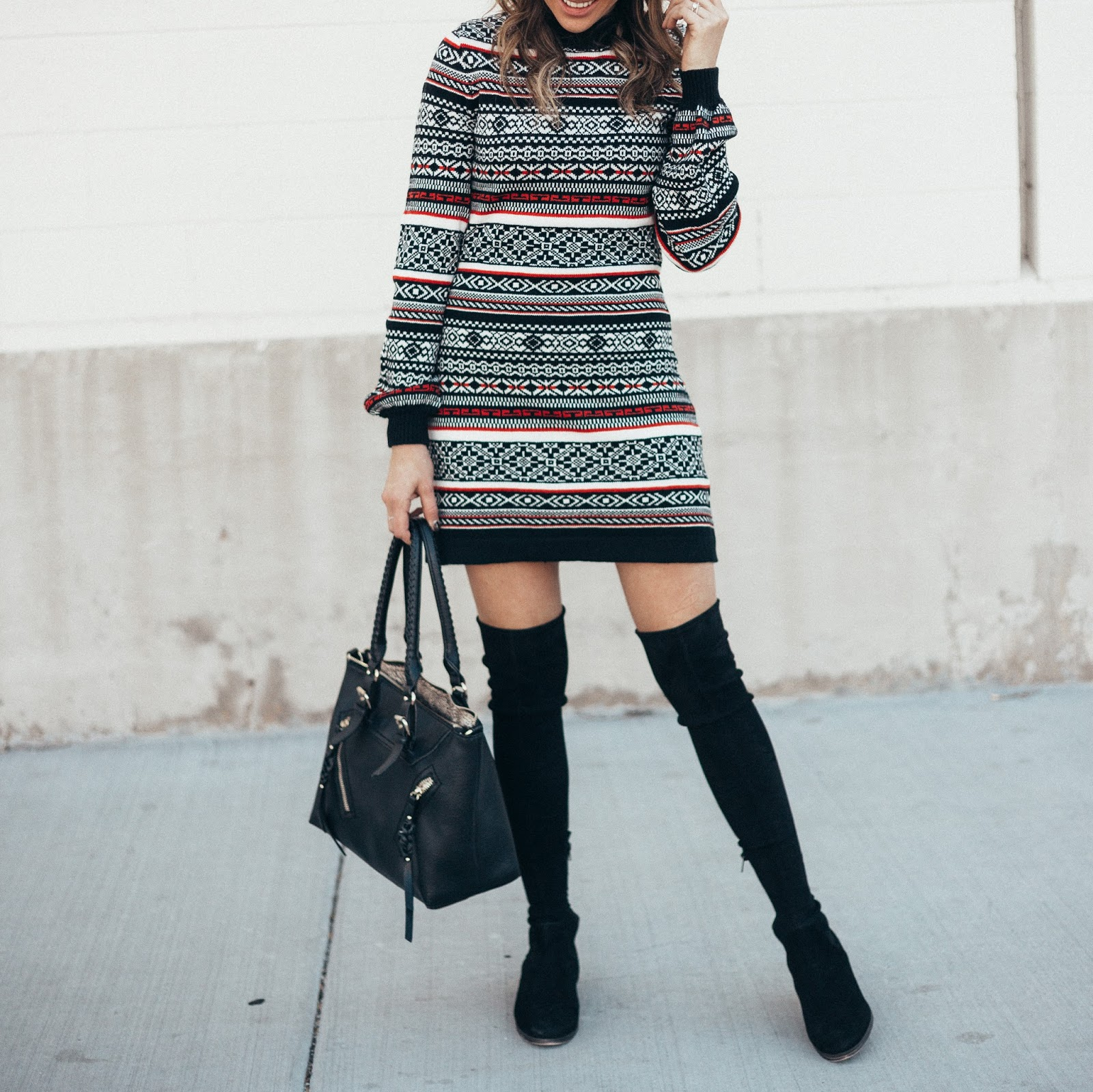 A Free People Sweater Dress Weather by popular Colorado style blogger Eat Pray Wear Love