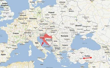 Hırvatistan Nerede Harita