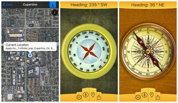 compass application in iphone