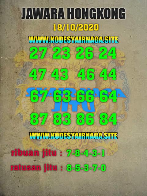 Kode syair Hongkong Minggu 18 Oktober 2020 257