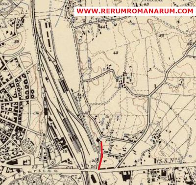 Mappa Stazione Tiburtina Pietralata 1950