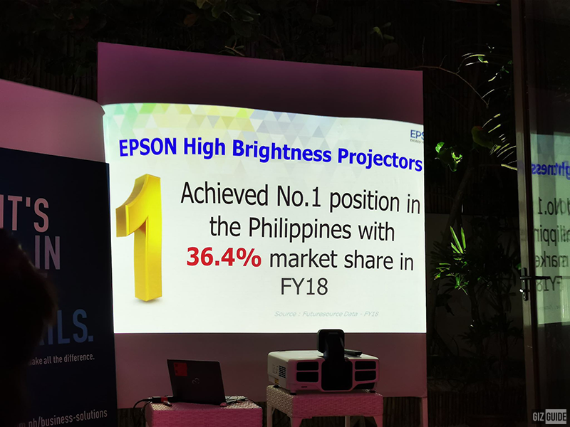 Epson is now the number one brand in high brightness projectors