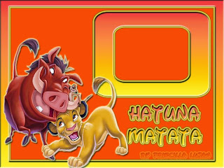 The Lion King: Free Printable Invitations, Backgrounds or Cards.