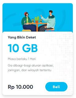 Paket data By.u Yang Bikin Deket 10GB 10.000 Masa Aktif 1 Hari