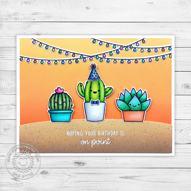 Sunny Studio Stamps: Looking Sharp Scenic Route Cactus Themed Punny Birthday Card by Anja Bytyqi