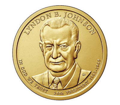 Lyndon B. Johnson, 36th President of the United States 2015 US Presidential One Dollar Coin