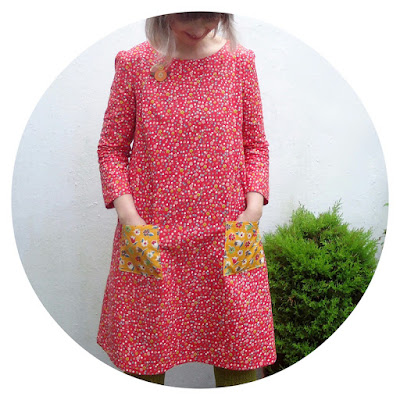 Esme Dress: Lotta Jansdotter Everyday Style made by Ivy Arch