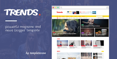 Trends – News/Magazine Responsive Blogger Template Free Download