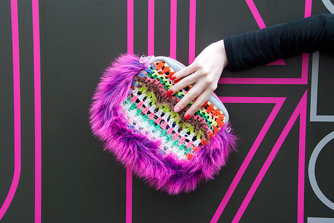 CeliaB, crochet bag, rainbow handbag