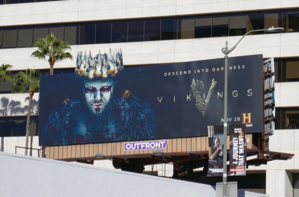 Vikings season 5 part 2 crown cut-out billboard