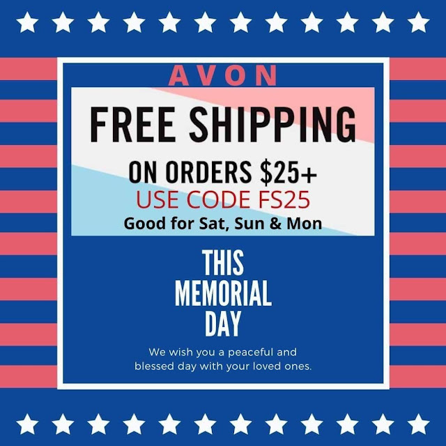 AVON Free Shipping On $25+ For This Memorial Weekend - Coupon Code Online