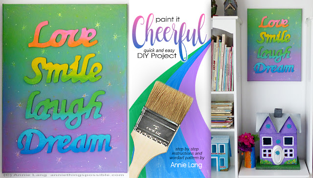 Paint Annie Lang's cheerfully easy project in no time at all with instructions and FREE pattern because Annie Things Possible!
