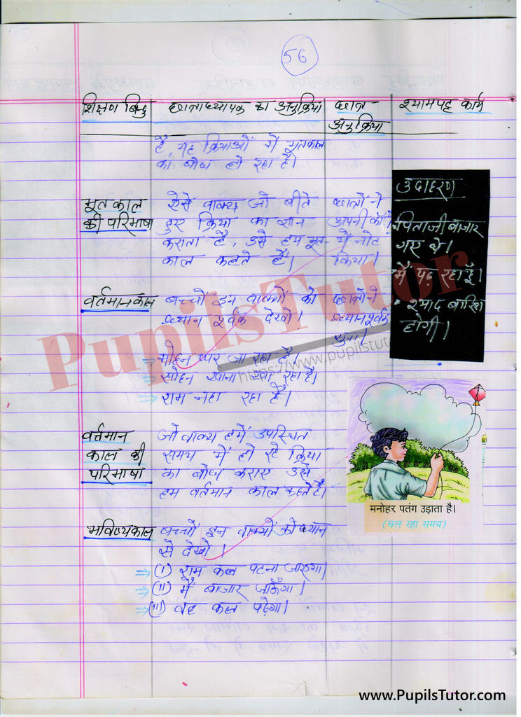 kaal par Lesson Plan in Hindi for BEd and DELED