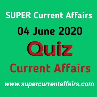 4 June 2020 Current Affairs Quiz in Hindi