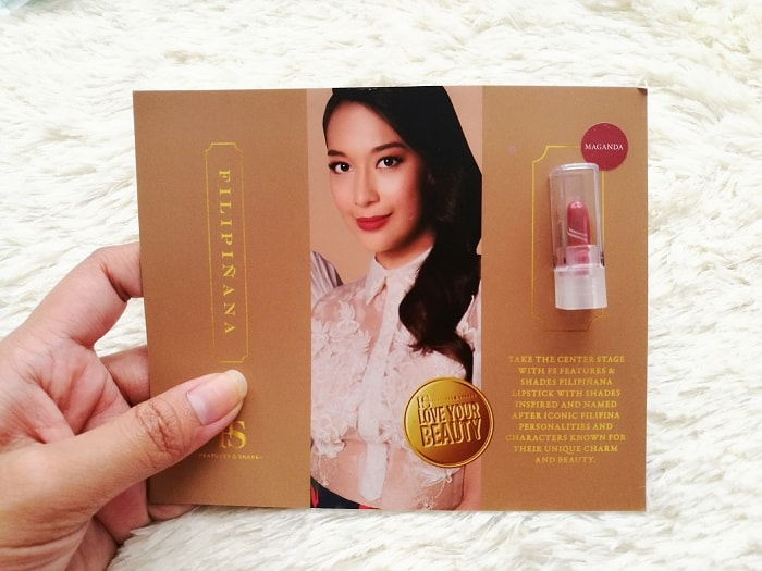 FS Features& Shades lipstick collection,  FS Filipinana Lipstick