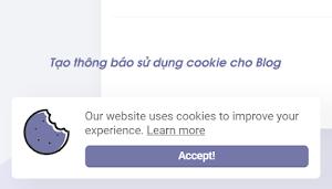 Thêm thông báo sử dụng cookie cho Blog/Website
