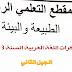 مذكرات السنة الثالثة ابتدائي الجيل الثاني اللغة العربية المقطع الرابع الطبيعة والبيئة