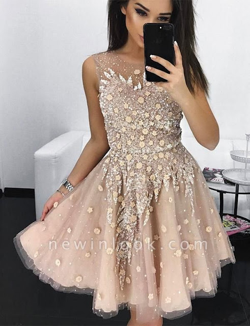 Stylish Quinceanera Appliques Jewel Tulle Sleeveless Dama Dress