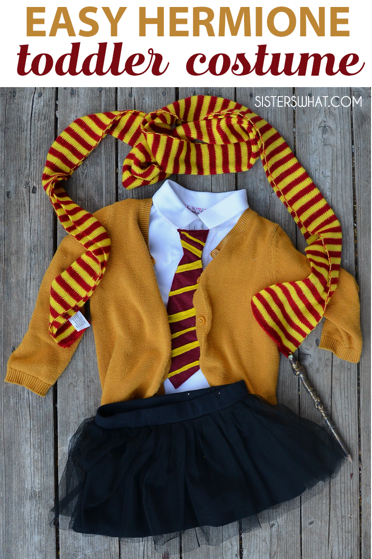 Easy hermione gryffindor Harry Potter girl toddler costume