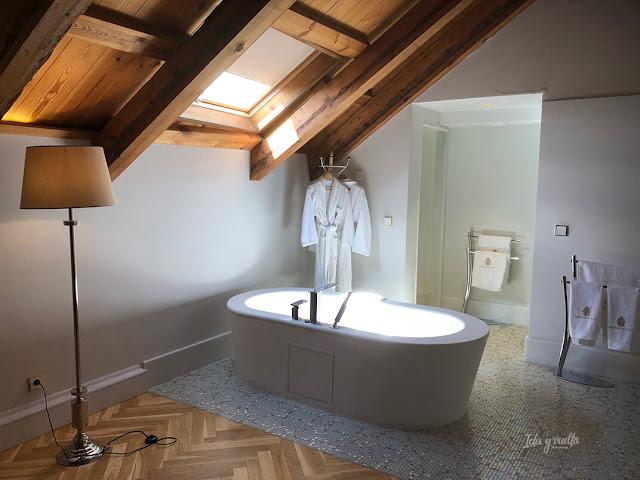 Baño de nuestra habitación del Palacio de Úbeda