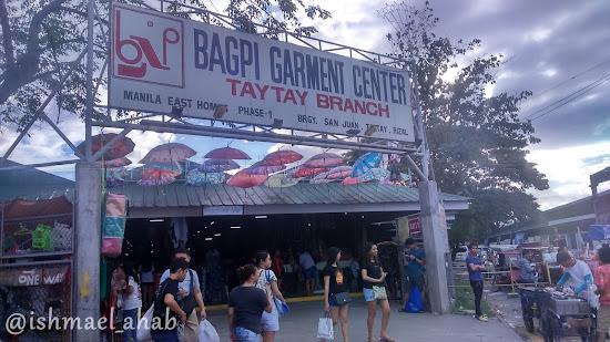 BAGPI Garment Center in Taytay Tiangge